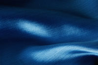 Folds in blue fabric