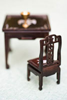 Miniature chair and table