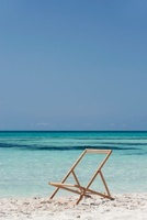 Deckchair with canvas cover missing