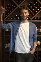 Salesman in wine shop, portrait