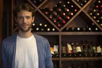 Sommelier in wine cellar, portrait