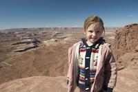 Girl at Canyonlands National Park in Utah, USA