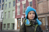 Boy sightseeing in New Orleans, Louisiana, USA