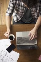 Man using laptop computer