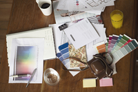 Cluttered work space