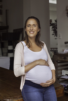 Pregnant woman, portrait