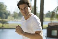Man running, portrait