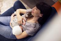 Mother nursing infant