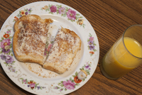 Buttered toast and orange juice