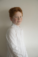 Boy with red hair, portrait