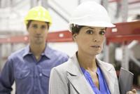 Female supervisor at industrial site, portrait