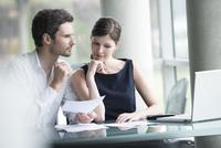 Business associates brainstorming