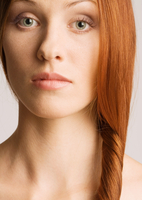 Woman with hair to the side, portrait