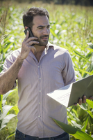 Advances in technology enhance farmers' ability to monitor agricultural production 11001064316| 写真素材・ストックフォト・画像・イラスト素材|アマナイメージズ