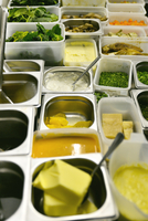 Variety of ingredients in containers 11001064367| 写真素材・ストックフォト・画像・イラスト素材|アマナイメージズ