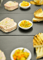 Appetizers prepared in commercial kitchen