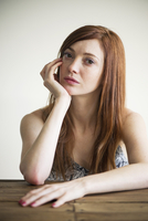 Woman with look of skepticism, portrait