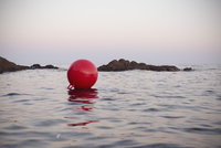 Buoy floating on body of water