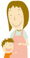 妊娠している母と息子 イラスト 11002026230| 写真素材・ストックフォト・画像・イラスト素材|アマナイメージズ