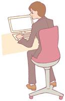 パソコンを打つ男性 イラスト