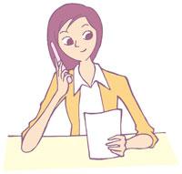 携帯電話で話す女性 イラスト 11002026307| 写真素材・ストックフォト・画像・イラスト素材|アマナイメージズ