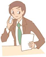携帯電話で話す男性 イラスト 11002026308| 写真素材・ストックフォト・画像・イラスト素材|アマナイメージズ