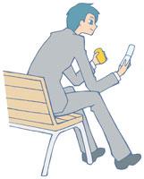 携帯電話を持つ男性 イラスト 11002026309| 写真素材・ストックフォト・画像・イラスト素材|アマナイメージズ