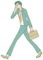携帯電話で話す男性 イラスト 11002026311| 写真素材・ストックフォト・画像・イラスト素材|アマナイメージズ