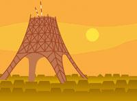 建設中の東京タワー イラスト