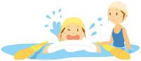 プール,水泳 イラスト