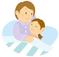 娘を寝かせる母 イラスト 11002026773| 写真素材・ストックフォト・画像・イラスト素材|アマナイメージズ