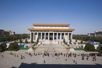 天安門広場の毛主席記念堂 11002029716| 写真素材・ストックフォト・画像・イラスト素材|アマナイメージズ