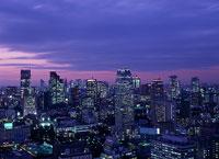 東京の北西方面 の夜景