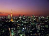 東京の西方面の夜景