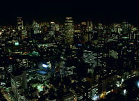 東京の北西方面の夜景