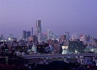 横浜の夕景 11002048805| 写真素材・ストックフォト・画像・イラスト素材|アマナイメージズ