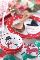 クリスマスイメージ 食器 11002049556| 写真素材・ストックフォト・画像・イラスト素材|アマナイメージズ