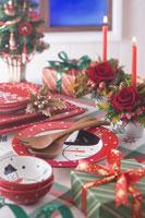 クリスマスイメージ 食器 11002049557| 写真素材・ストックフォト・画像・イラスト素材|アマナイメージズ