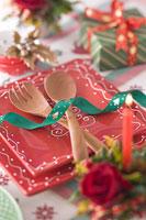 クリスマスイメージ 食器 11002049560| 写真素材・ストックフォト・画像・イラスト素材|アマナイメージズ