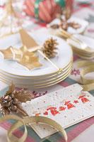 クリスマスイメージ 食器 11002049561| 写真素材・ストックフォト・画像・イラスト素材|アマナイメージズ