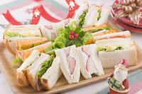 クリスマスイメージ サンドイッチ