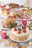 クリスマスイメージ ディナー 11002049583| 写真素材・ストックフォト・画像・イラスト素材|アマナイメージズ