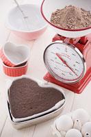 バレンタインイメージ チョコレートケーキ作り