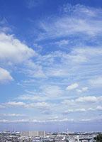 扁平雲と巻層雲と巻積雲