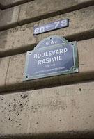 パリの通り名のプレート