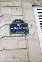 パリの通り名のプレート 11002053384| 写真素材・ストックフォト・画像・イラスト素材|アマナイメージズ