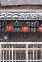 祇園に降る雪 11002053582| 写真素材・ストックフォト・画像・イラスト素材|アマナイメージズ