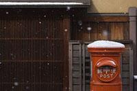 祇園に降る雪 11002053583| 写真素材・ストックフォト・画像・イラスト素材|アマナイメージズ