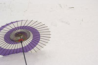 雪原と傘 11002053587| 写真素材・ストックフォト・画像・イラスト素材|アマナイメージズ
