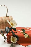 風呂敷とツバキ 11002053609| 写真素材・ストックフォト・画像・イラスト素材|アマナイメージズ